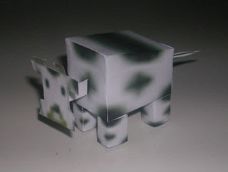 Bobblehead Cow Papercraft