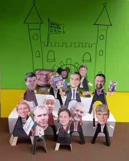 2009 Belgian Election Papercrafts