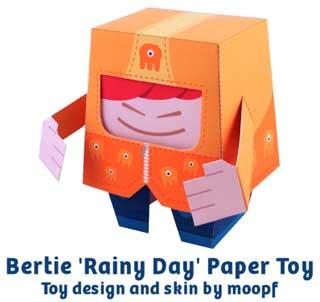 Bertie Paper Toy