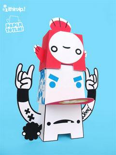 Hatfish Paper Toy