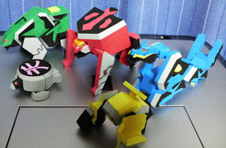 Samurai Sentai Shinkenger Origami Mecha Papercraft