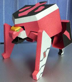 Shishi Origami Mecha Papercraft