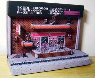 Ninja Gaiden Diorama Papercraft