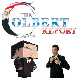 Stephen Colbert Papercraft