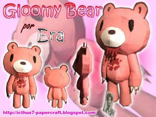 Gloomy Bear Papercraft