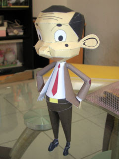 Mr. Bean Papercraft