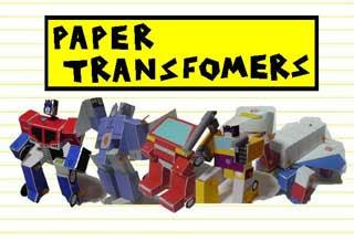 G1 Transformers Papercraft