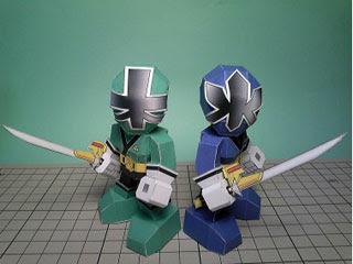 Samurai Sentai Shinkenger Papercraft