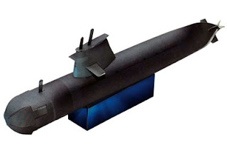 Collins Submarine Papercraft