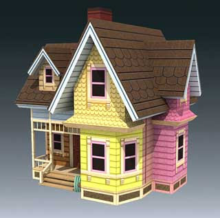 Carl's Flying House Papercraft