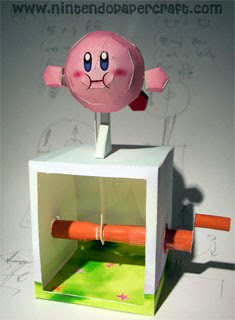 Flying Kirby Papercraft Automata