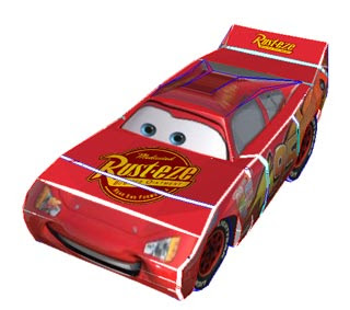 Lightning McQueen Papercraft