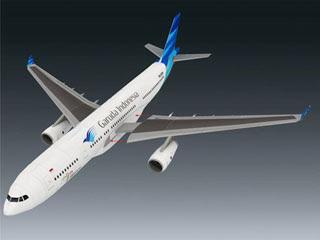 Airbus A330 Papercraft Garuda