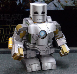 Iron Man Papercraft - Mark 1 Armor (Deformed) ~ Paperkraft.net - Free