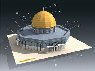 Dome of the Rock Papercraft