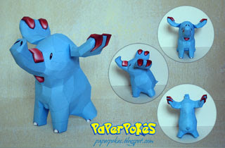Phanpy Papercraft