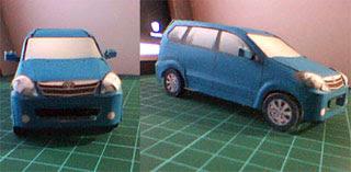 The Toyota Avanza papercraft (aka Daihatsu Xenia) by Liem Kou Phing