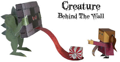 Creature Behind the Wall Papercraft