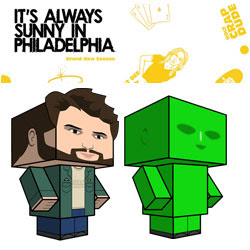 Charlie Kelly Green Man Papercraft