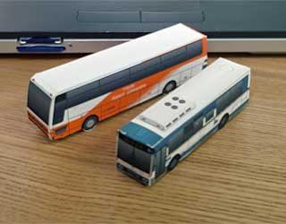 Mitsubishi Fuso Aero Star Papercraft Bus