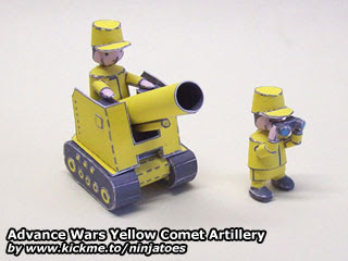Yellow Comet tank Papercraft