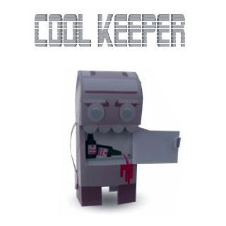 Cool Keeper Robot Papercraft