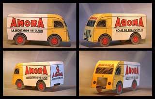 Amora Mustard Van Papercraft