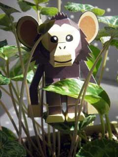 Wa the Chimp Papercraft