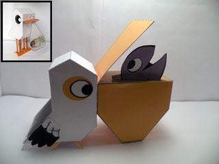 Stork Pelican Papercraft