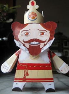 The Burger King Papercraft