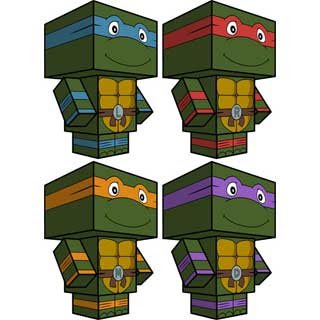 Teenage Mutant Ninja Turtles Papercraft