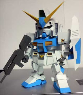 SD Gundam NT1 Alex Papercraft