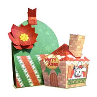 Christmas Gift Bag Box Papercraft