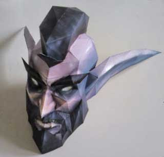 Mr. T Night Elf Mohawk Papercraft