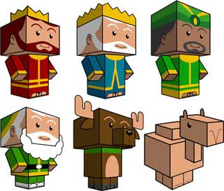 3 Wise Men Papercraft
