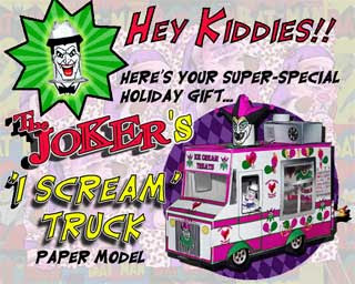 Joker's I Scream Truck Papercraft
