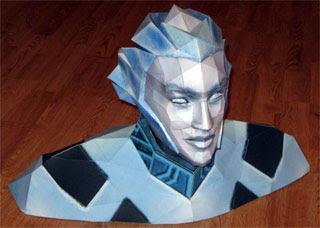 Tron Lightcyclist Bust Papercraft