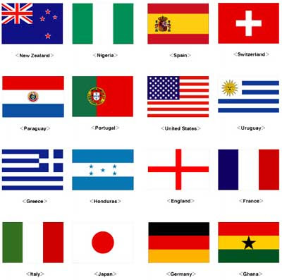 2010 FIFA World Cup Paper Flags