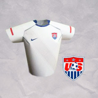2010 World Cup Futbol Jersey Papercraft USA
