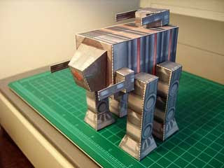 Thorium Wars Manticore Walker Papercraft