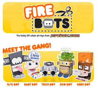 Firebox Firebots Papercraft