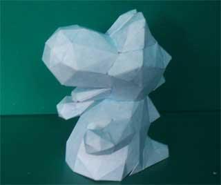 Snow Yoshi Papercraft