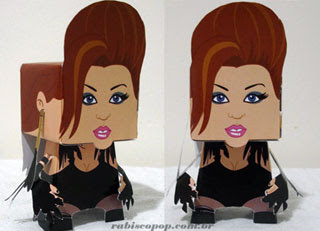 Miley Cyrus Papercraft Can't Be Tamed
