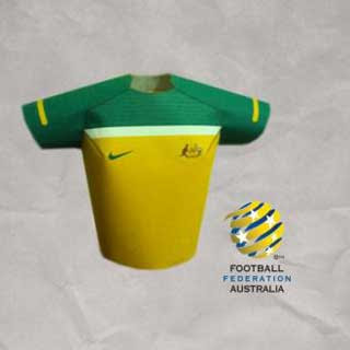Australia World Cup Jersey Papercraft