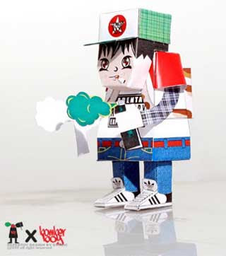 Bomber Boy Papercraft