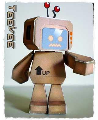 TeeVee Paper Toy