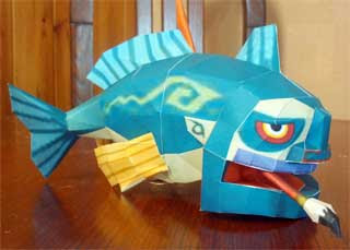 Fishmen Papercraft