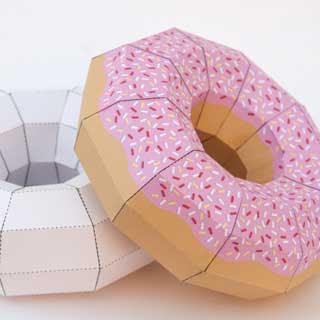 Doughnut Papercraft