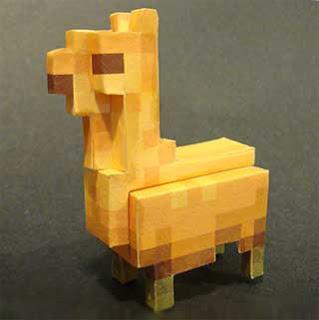 Pixel Llama Papercraft