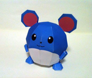 Pokemon Marill Papercraft 2